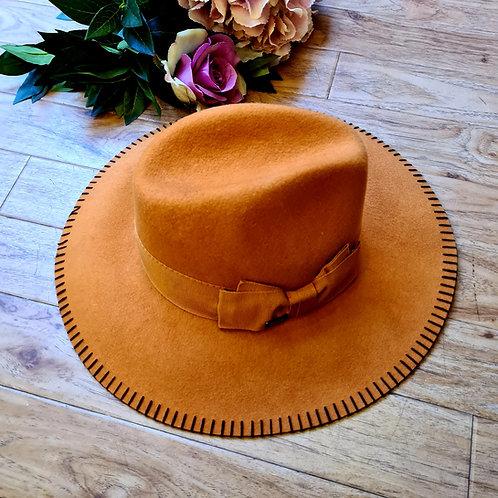 Orange Italian 100%Wool Hat