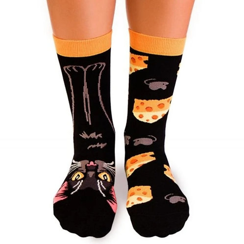 Lucky Cat Combed cotton socks