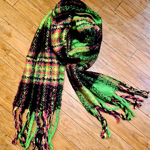 Green soft scarf