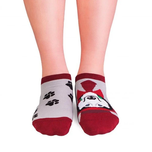 Husky dog sneakers Combed cotton socks