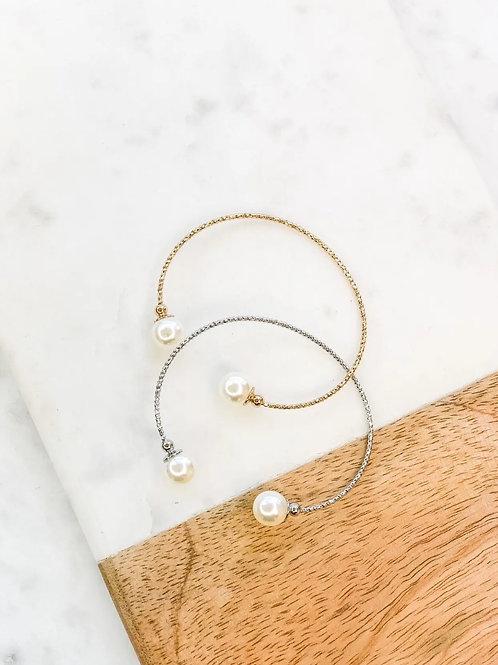 Pearl cuff Bracelet  Gold