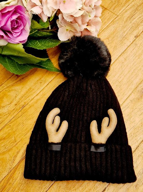 Reindeer Pompom Hat