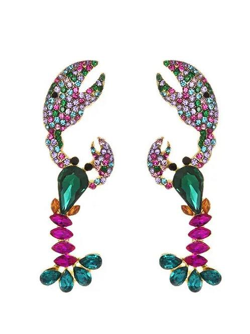 Swarovski  Multi colour  Lobster Earrings