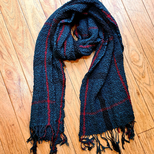 Green stripped scarf