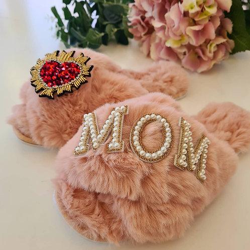 Mum Fur slippers