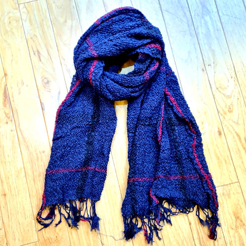 Navy stripped scarf