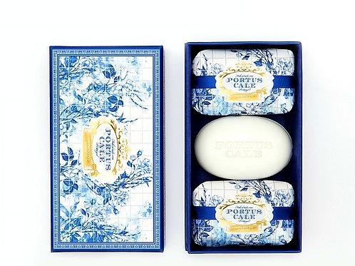 Portus cale Gold & blue set of 3 soaps