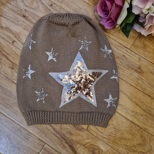 Knitted Glitter Hat