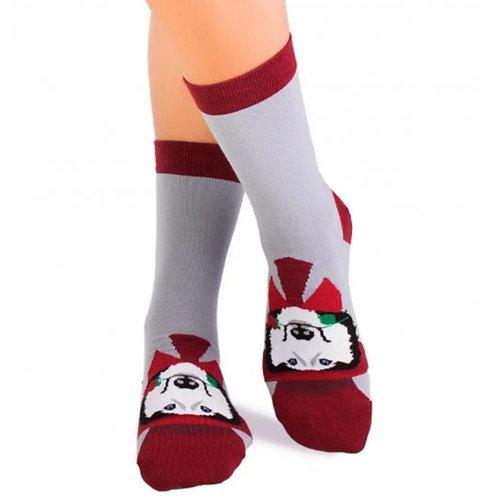 Husky dog Combed cotton socks