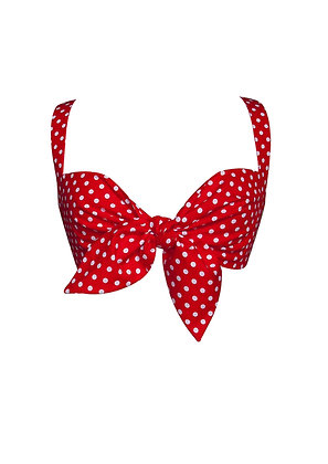 Spotty Tie Front Bra Top