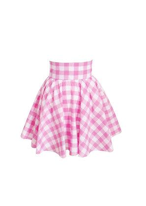 Gingham Pin Up Circle Skirt