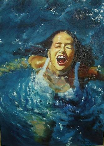 """Pintura a óleo """"O ar que respiro"""""""
