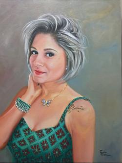 Pintura de retrato a óleo