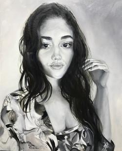 Retrato a óleo