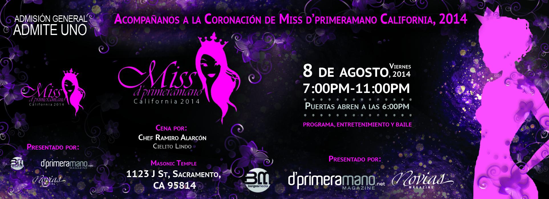 ticket for Miss Dprimeramano