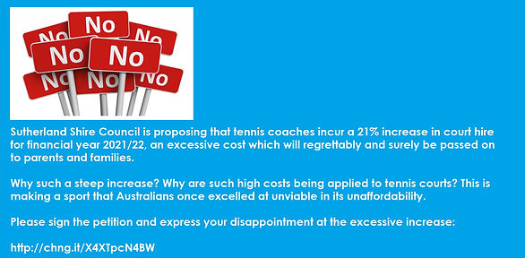 Say No To Sutherland Shire Tennis Court