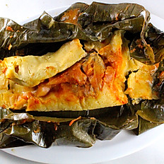 Banana Leaf with Pork- Puerco Tamal