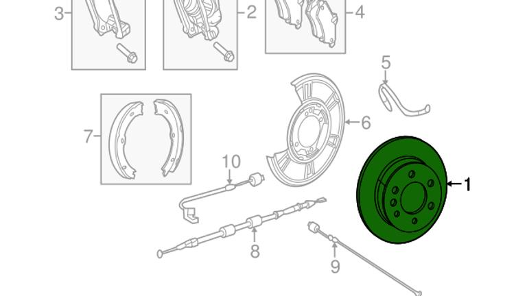 Rear Brake Rotor (NCV3 3500)