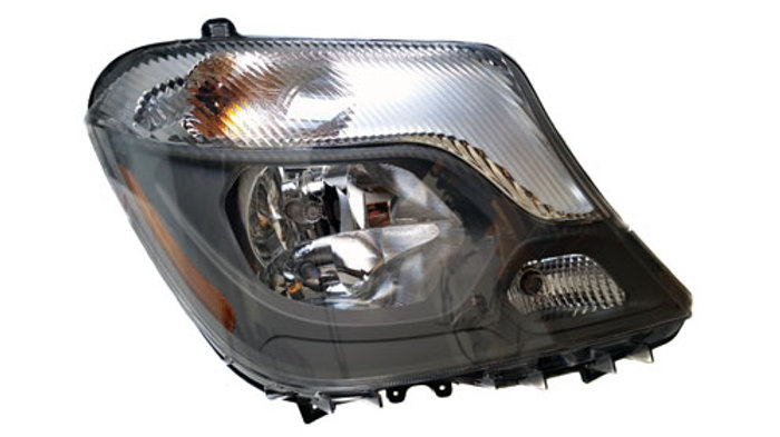 Mercedes Halogen Headlamp Assembly (Right) (Fits 2014-2018 sprinters)