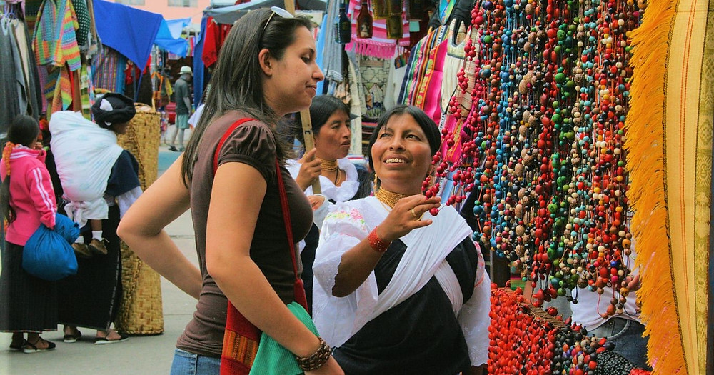 A shopper bargaining with the shopkeeper