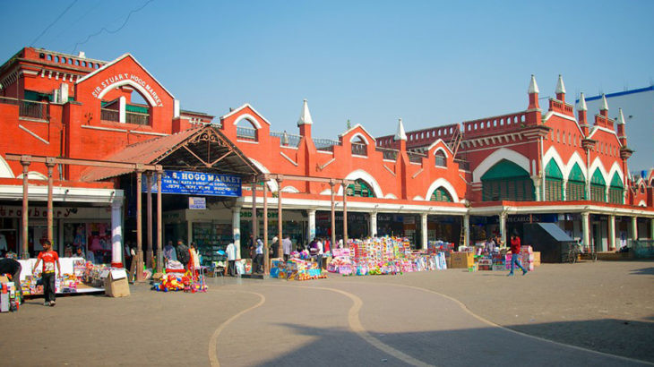 The huge area for the marketplace in New Market.