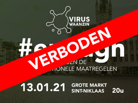 Sint-Niklaas verbiedt manifestaties viruswaanzin