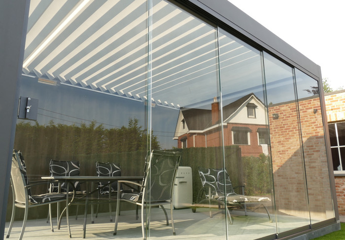 Corradi Maestro lamellen overkapping van  370 x 500 cm