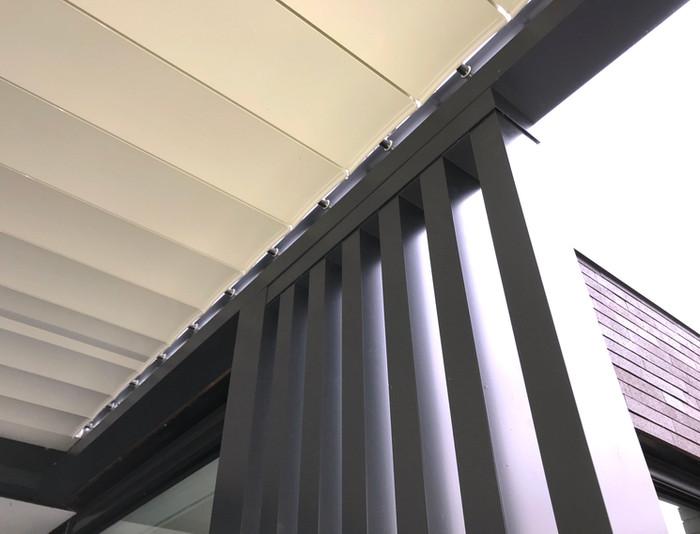 Detail realisatie - Corradi Bioclimatics Alba: 3,5m x 7m