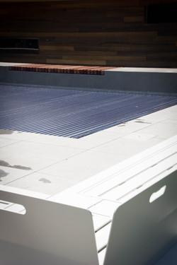 Automatische rolluik zwembad solarlamellen