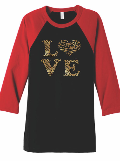 LOVE Cheetah Foil Top
