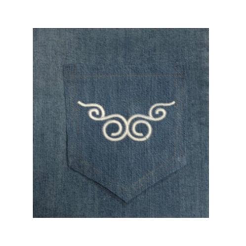 Curly Back Pocket Design