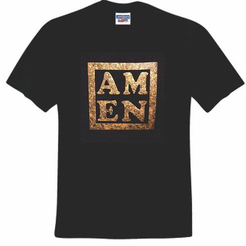Amen Distressed Foil T-Shirt