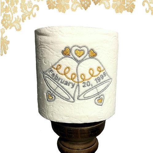 Wedding/Anniversary Bells Toilet Paper Décor