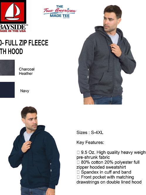 Bayside 900 Full Zipper Fleece with Hood