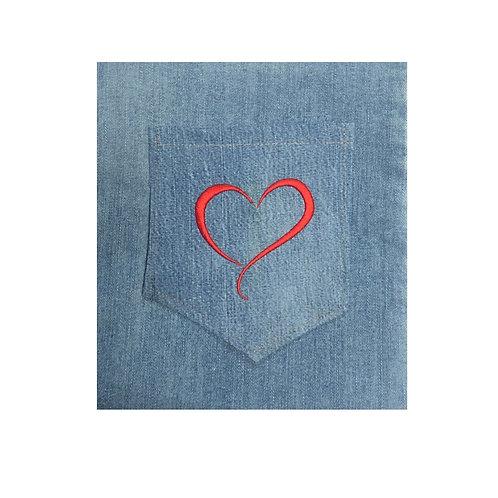 Curvy Heart Pocket Design