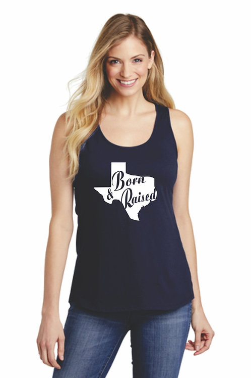 Texas Born & Raised Gathered Back Tank