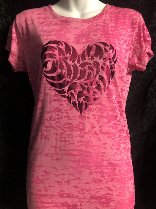 Swirl of Love Top in Pink Foil
