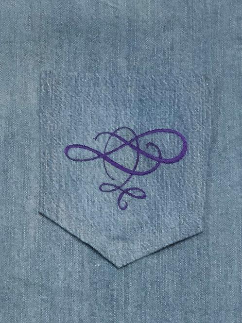 Swirl Back Pocket Design