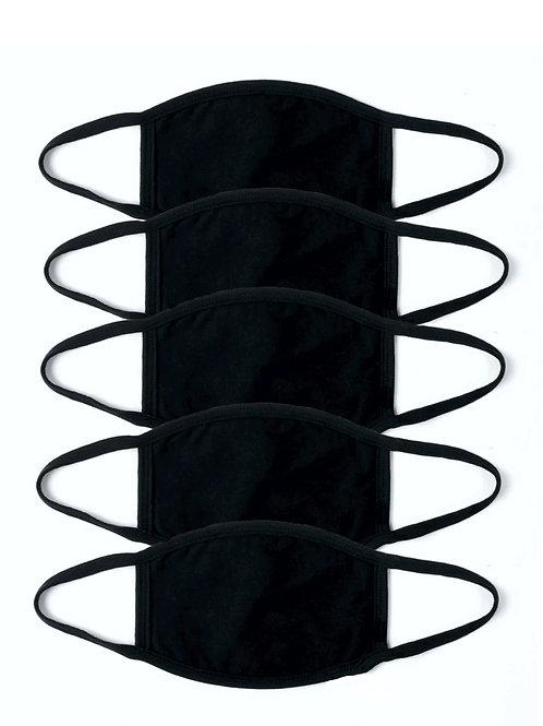 5 Pack of Black Masks