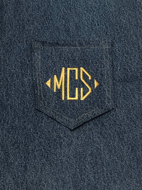 Monogram Back Pockets Diamond Form