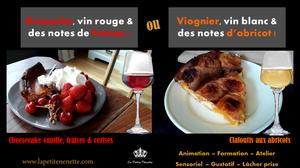 grenache vin rouge degustation notes de fruits rouges fraises cerise cheesecake et viognier cote du rhone abricots