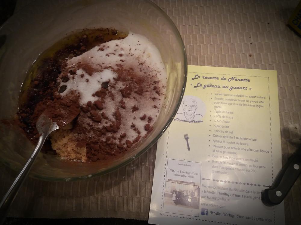 Gâteau Yaourt Grand-mère chocolat
