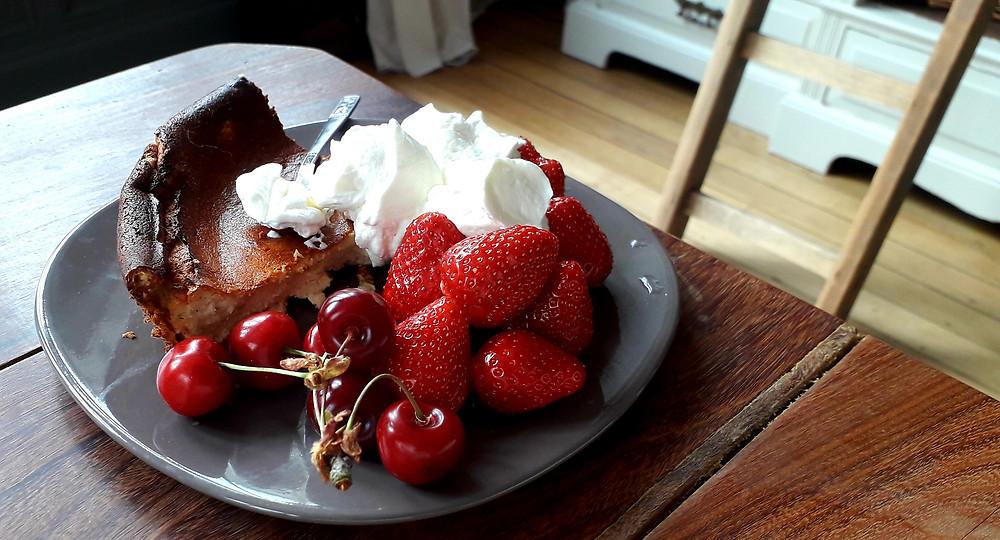 cheesecake degustation intuitive fruits rouges fraises cerises