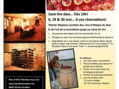 Nouveaux évènements autour du vin en juin!