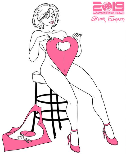 Power Girl Paper Valentine 2019 V1