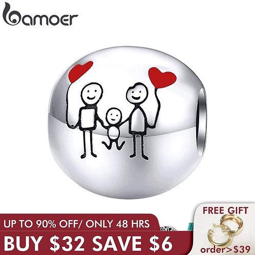 Bamoer Family Charm for Original 925 Bracelet Bangle