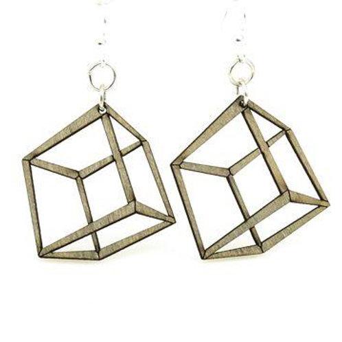 3D Cube Earrings # 1472