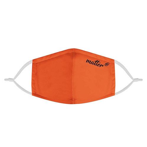 Solid Orange Matter Mask | Fashion Face Mask