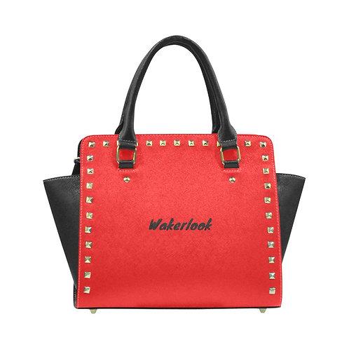 Red Rivet Shoulder Wakerlook Handbag