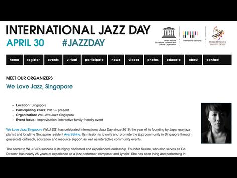 'MEET OUR ORGANIZERS' jazzday.com [2019]